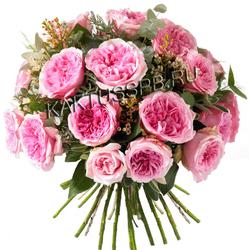 """Букет розовых пионовидных роз """"Агнес"""""""