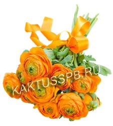 Монобукет оранжевых ранункулюсов