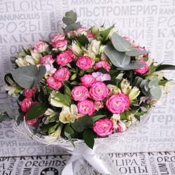 Букет с кустовыми розами №5