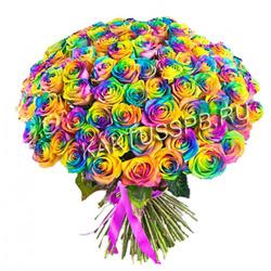 101 радужная роза