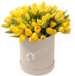 Композиция с желтыми тюльпанами №19