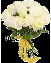 Букет из 25 белых роз в магазине kaktus.spb.ru