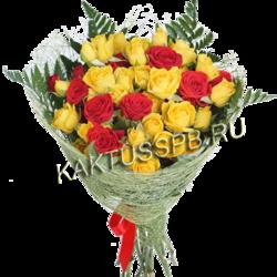 Букет кустовых роз №51