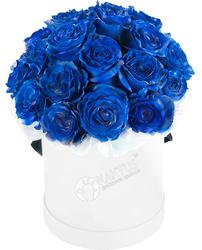 Композиция с синими розами №13