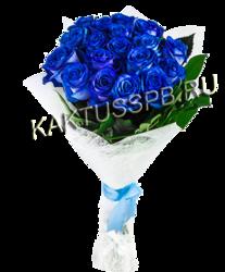 Букет из 19 синих роз