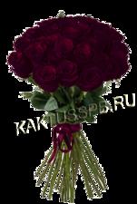 Букет из темно-бордовых роз Black Baccara