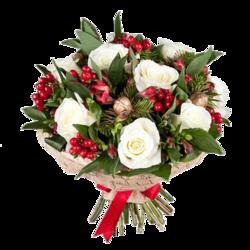 """Букет роз """"Новогодний"""""""