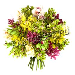 """Букет Орхидеи Цимбидиум """"Карамелька"""""""