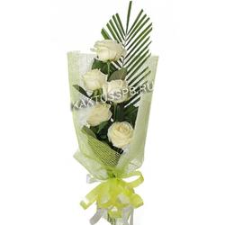 """Букет белых роз """"Перо ангела"""""""