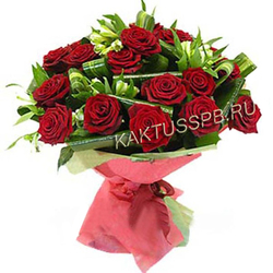 Букет бордовых роз