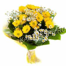 Букет из хризантемы и ромашки
