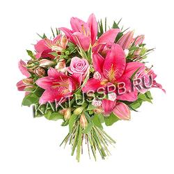 """Букет лилии """"Розовая лазурь"""""""