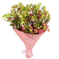 Букет бело-розовых лизиантусов