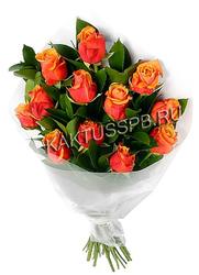 """Букет оранжевых роз """"Мандарин"""""""