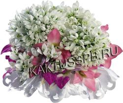 Букет подснежников с орхидеями