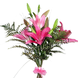 Букет розовых лилий