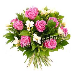 """Букет розовых роз """"Мери"""""""