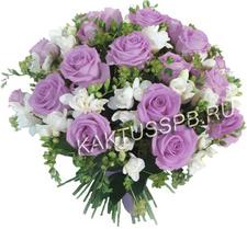 Букет фрезий и роз