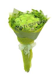 Букет с зелеными розами №4