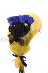 Букет из 13 синих роз