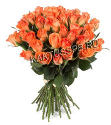 Монобукет оранжевых роз