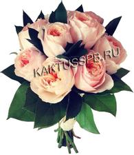 Монобукет розовых пионовидных роз.