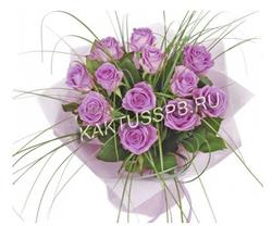 Монобукет сиреневых роз