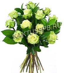 Букет с зелеными розами №1