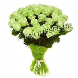 Букет с зелеными розами №2