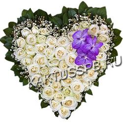"Сердце из роз ""Нежность"""