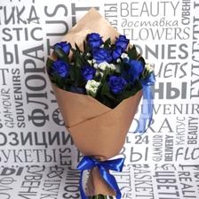Букет с синими розами №2