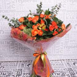 Букет с кустовыми розами №4