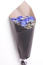Букет с синими розами №5