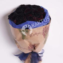 Букет из черных роз №7