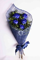 Букет из 5 синих роз