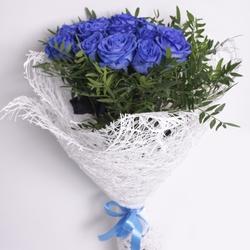 Букет с синими розами №3