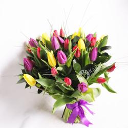 Букет тюльпанов микс фото 1