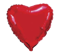 """Фольгированный шарик """"Красное сердце xxl"""""""