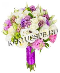 Букет невесты в нежно-розовом стиле №12