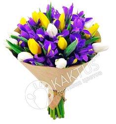 Ирисы и тюльпаны с доставкой.