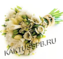 Букет невесты в классическом белом стиле №1