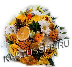 Букет невесты в стиле lemon-fresh №5