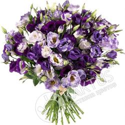Фиолетовые лизиантусы.