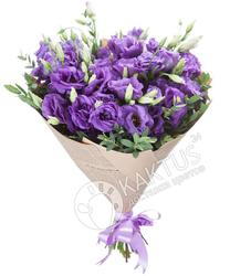 Букет лизиантусов фиолетовых.