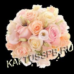 Букет невесты в нежно-розовом стиле №1