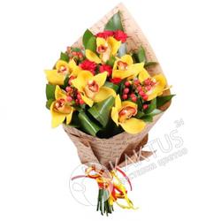 Букет орхидей жёлтых.