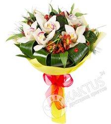 Букет белых орхидей