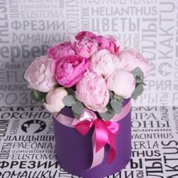 Композиция с розовыми пионами №16