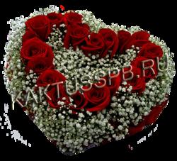 """Сердце из красных роз """"Кардио"""""""