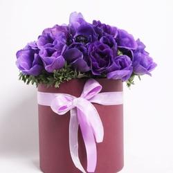 Композиция из фиолетовых анемонов №15